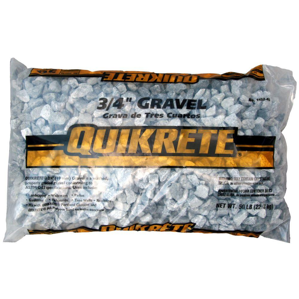 Quikrete 50 Lb 34 In Gravel 115245 The Home Depot