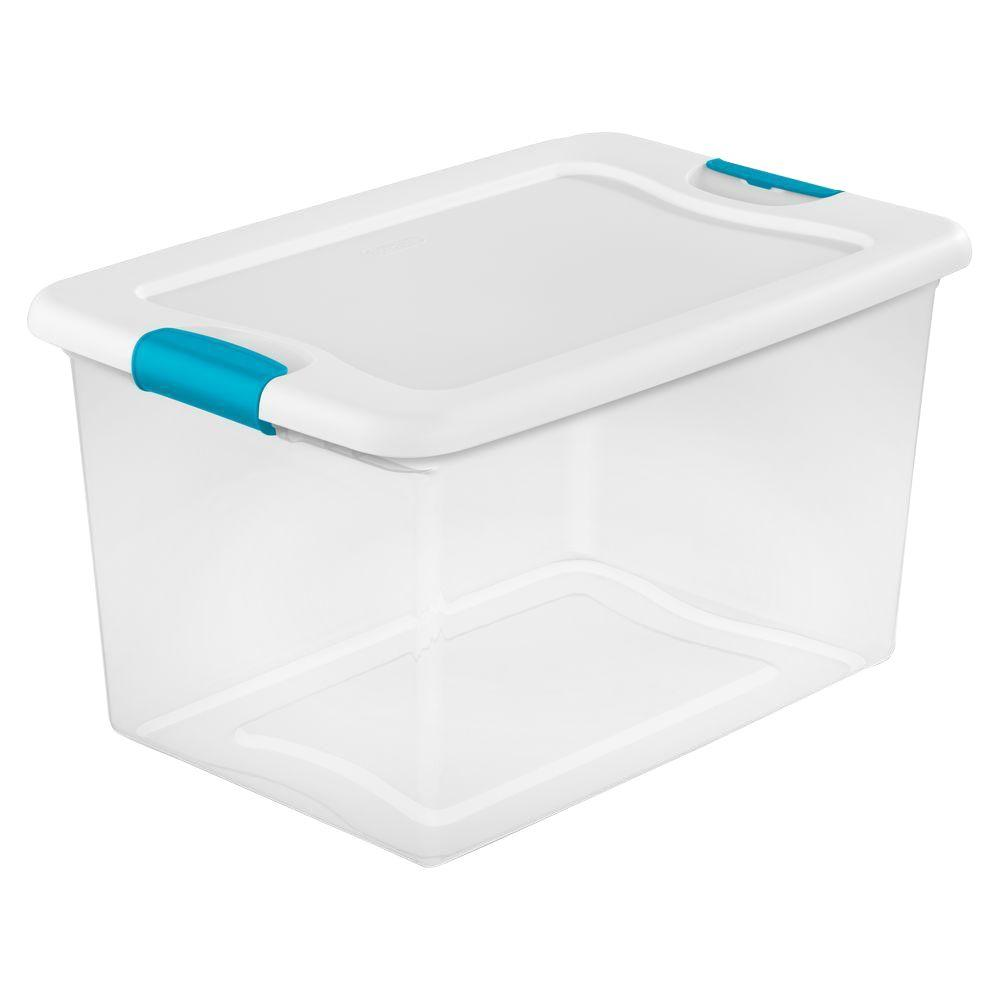 Must see Plastic Storage Bins With Lids - clear-bottom-w-white-lid-and-blue-aquarium-latches-sterilite-storage-bins-totes-14978006-64_1000  Collection_712862.jpg