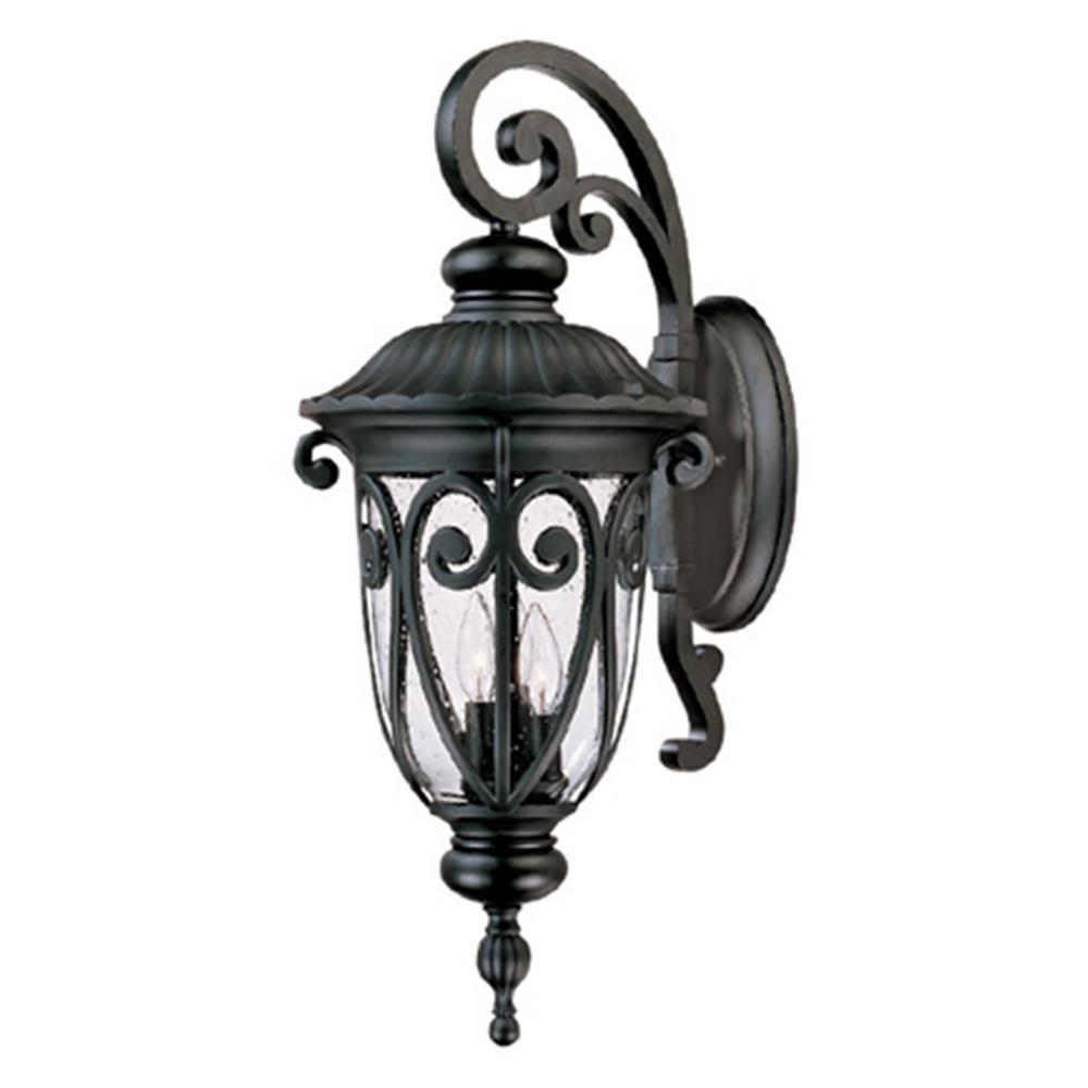 Y Decor Hailee 3-Light Matte Black Outdoor Wall Lantern ... on Wall Sconce Lighting Decor id=95792