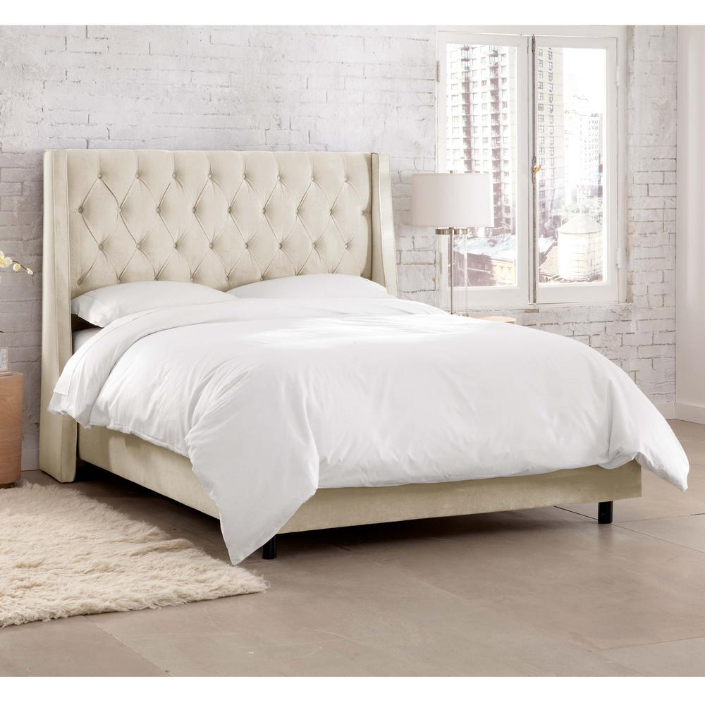 Willow White Queen Upholstered Bed 152BEDMSTIVR The Home