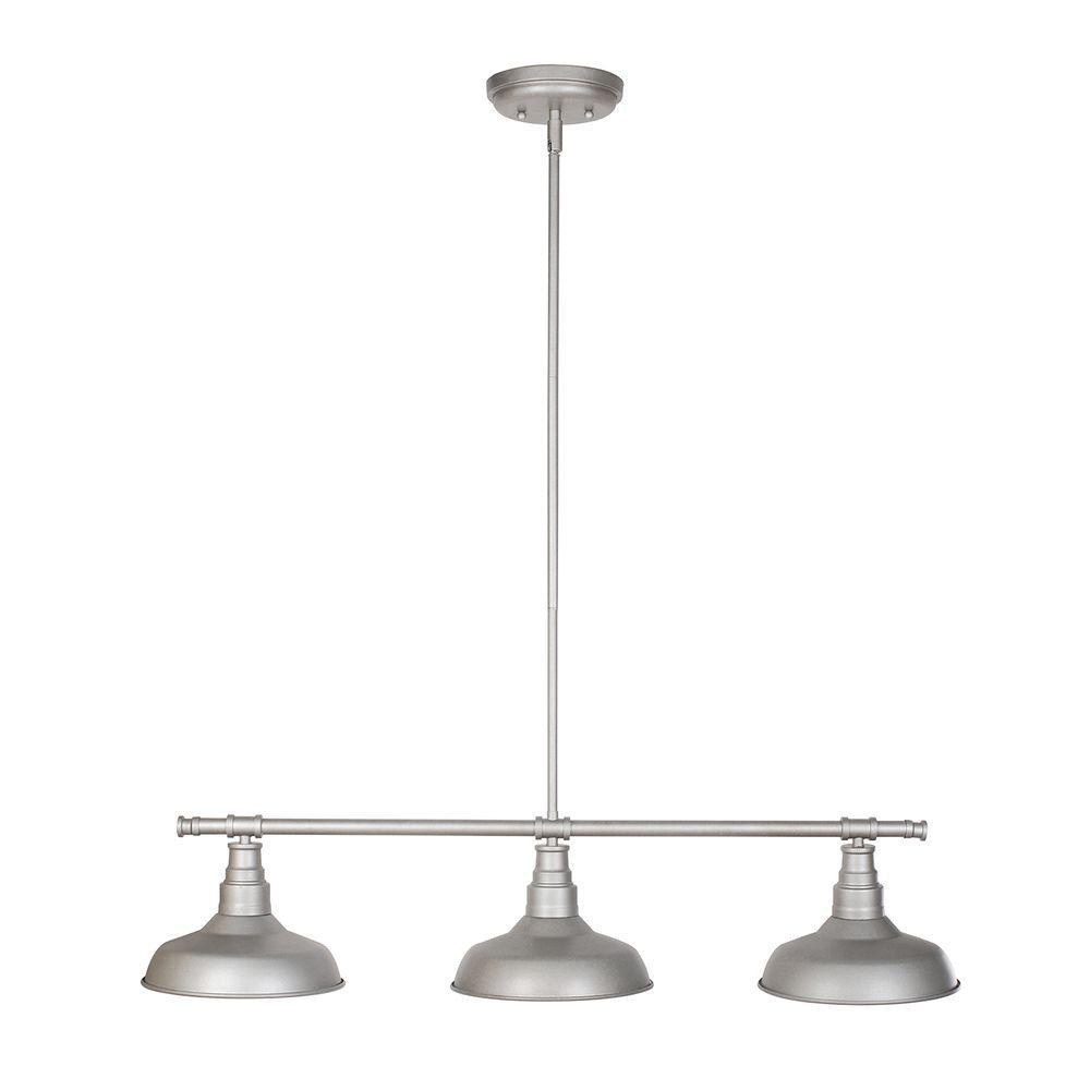 Design House Kimball 3 Light Galvanized Steel Indoor
