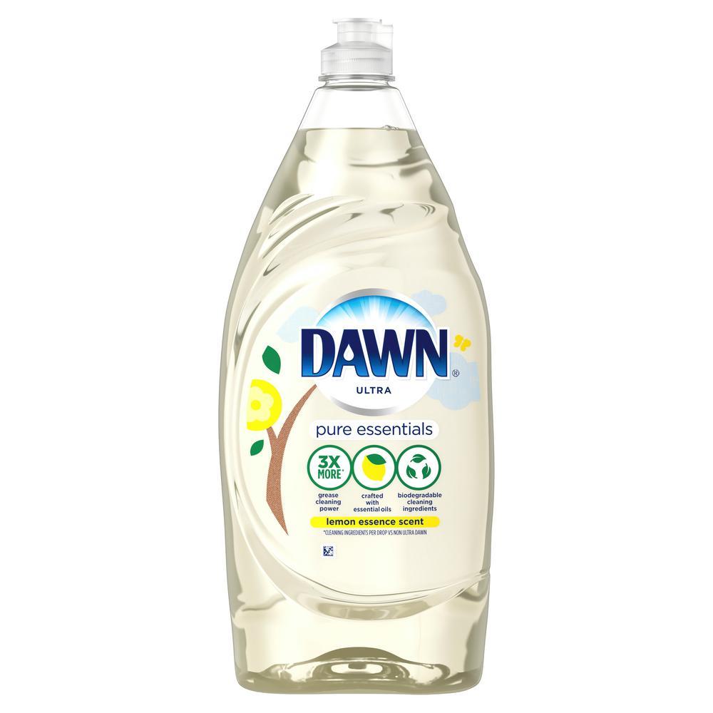 Dawn Pure Essentials 34 Oz Lemon Essence Scent Dishwashing Liquid Dish Soap 003700079916 The Home Depot