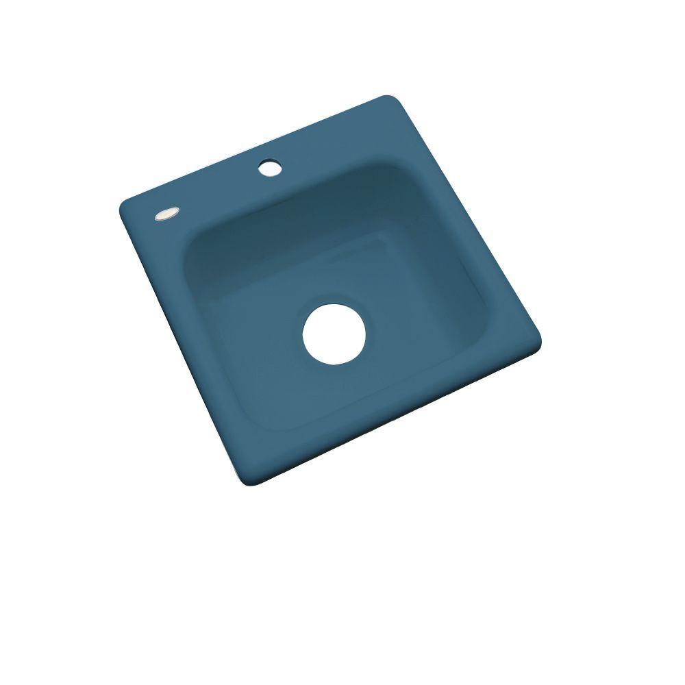 っManchester Drop-In Acrylic 16 in. 1-Hole Single Basin ...