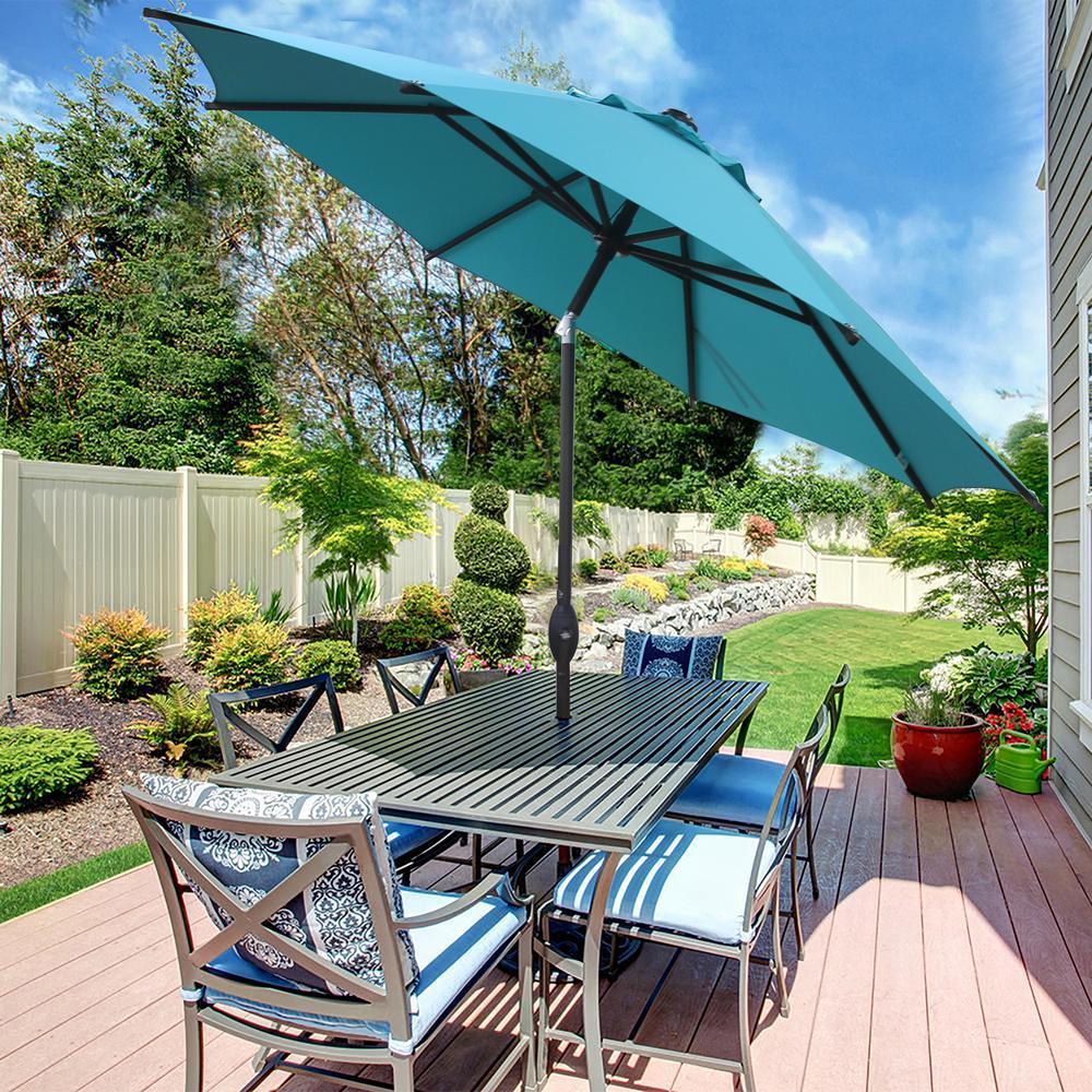 9 umbrella fabric patio auto tilt and
