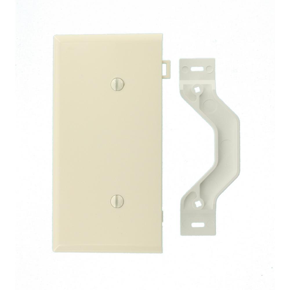 sectional 1 gang end blank nylon wall plate light almond