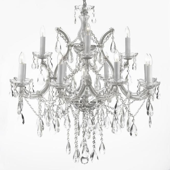 Maria Theresa 13 Light Silver Crystal Chandelier
