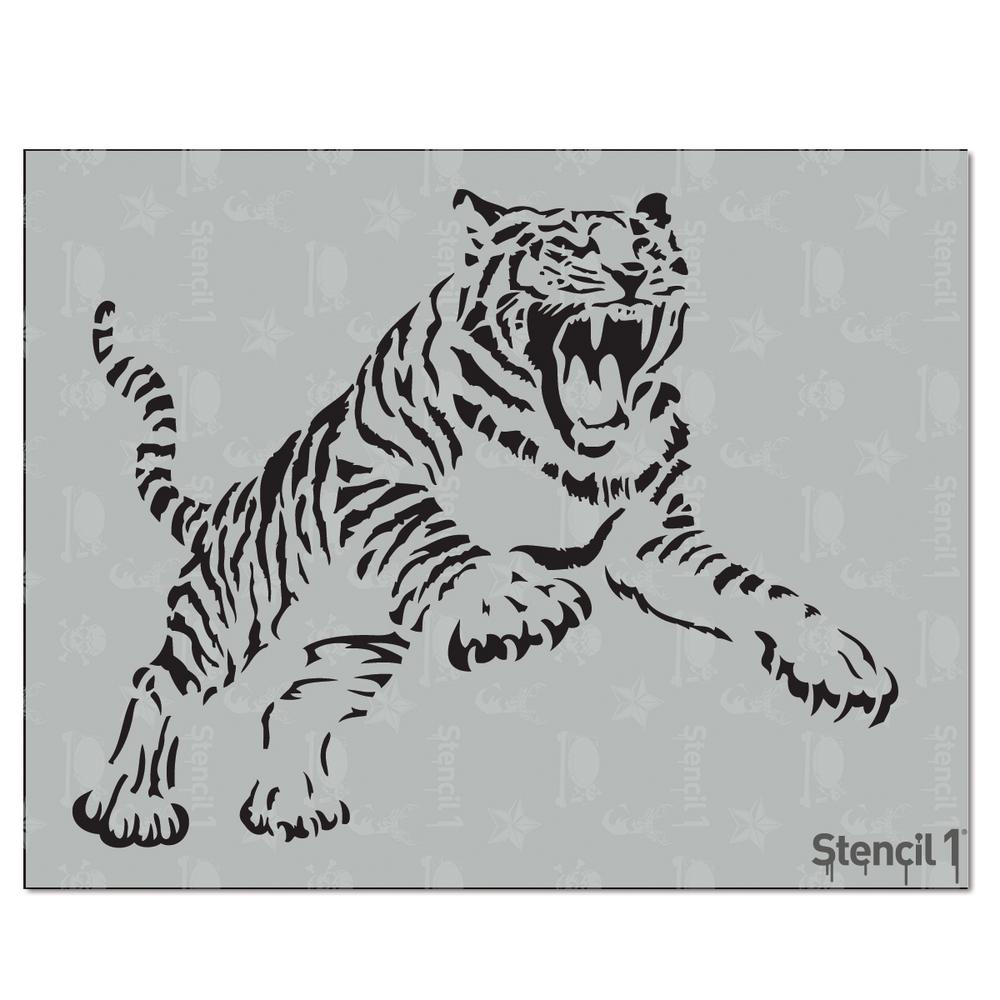 Stencil1 Tiger Stencil S10157 The Home Depot