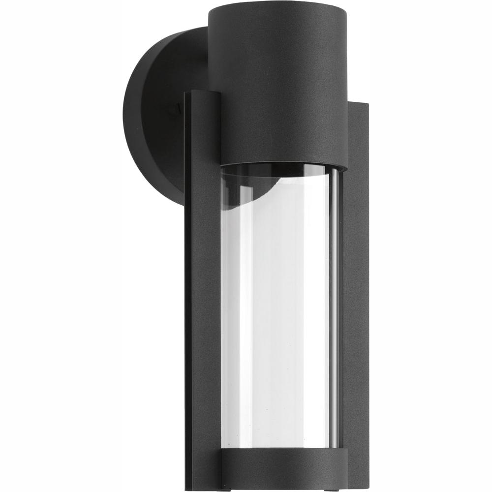Progress Lighting Z-1030 Collection 1-Light Black 12 in ... on Sconce Outdoor Lighting id=63818