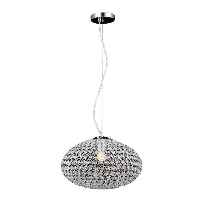 Decor Living Eliptic 1 Light Chrome Chandelier Shade 105035 15 The Home Depot