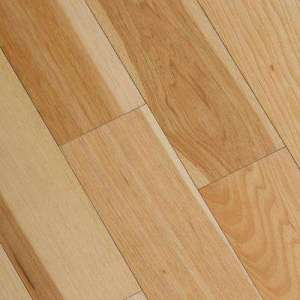 Engineered Hardwood   Wood Flooring   The Home Depot Wire Brushed Natural Hickory 3 8 in  T x 5 in  Wide x