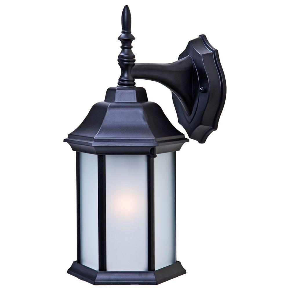 Acclaim Lighting Craftsman 2 Collection 1-Light Matte ... on Outdoor Lighting Fixtures Wall Mounted id=76439