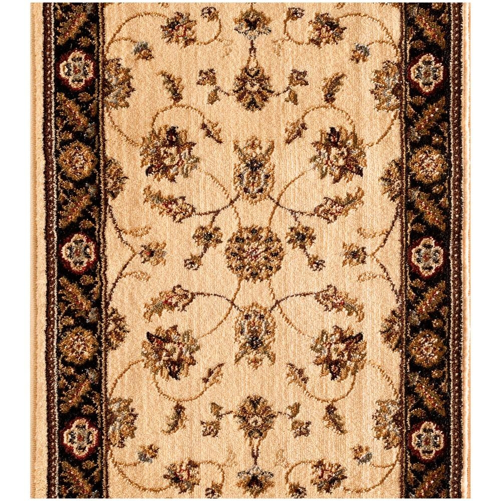 Natco Stratford Kazmir Ivory 33 In X Your Choice Length Stair | Home Depot Rug Runners By The Foot | Area Rugs | Regent Tan | Plastic | Carpet Protector | Mat