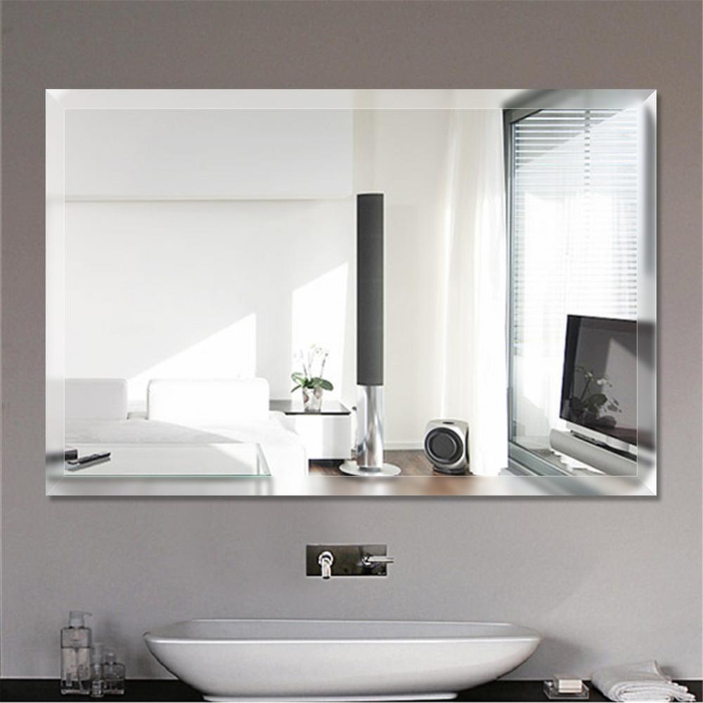 Wall Mirror Bathroom Image Of Bathroom And Closet