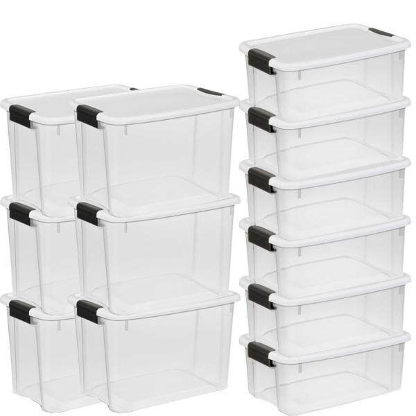 Sterilite 30 Qt. Ultra-Storage Box (6-Pack) and 18 Qt ...