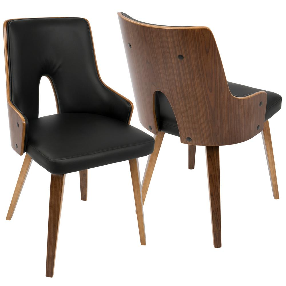 Best Kitchen Gallery: Lumisource Stella Mid Century Walnut And Black Modern Dining Chair of Dining Chairs Modern  on rachelxblog.com