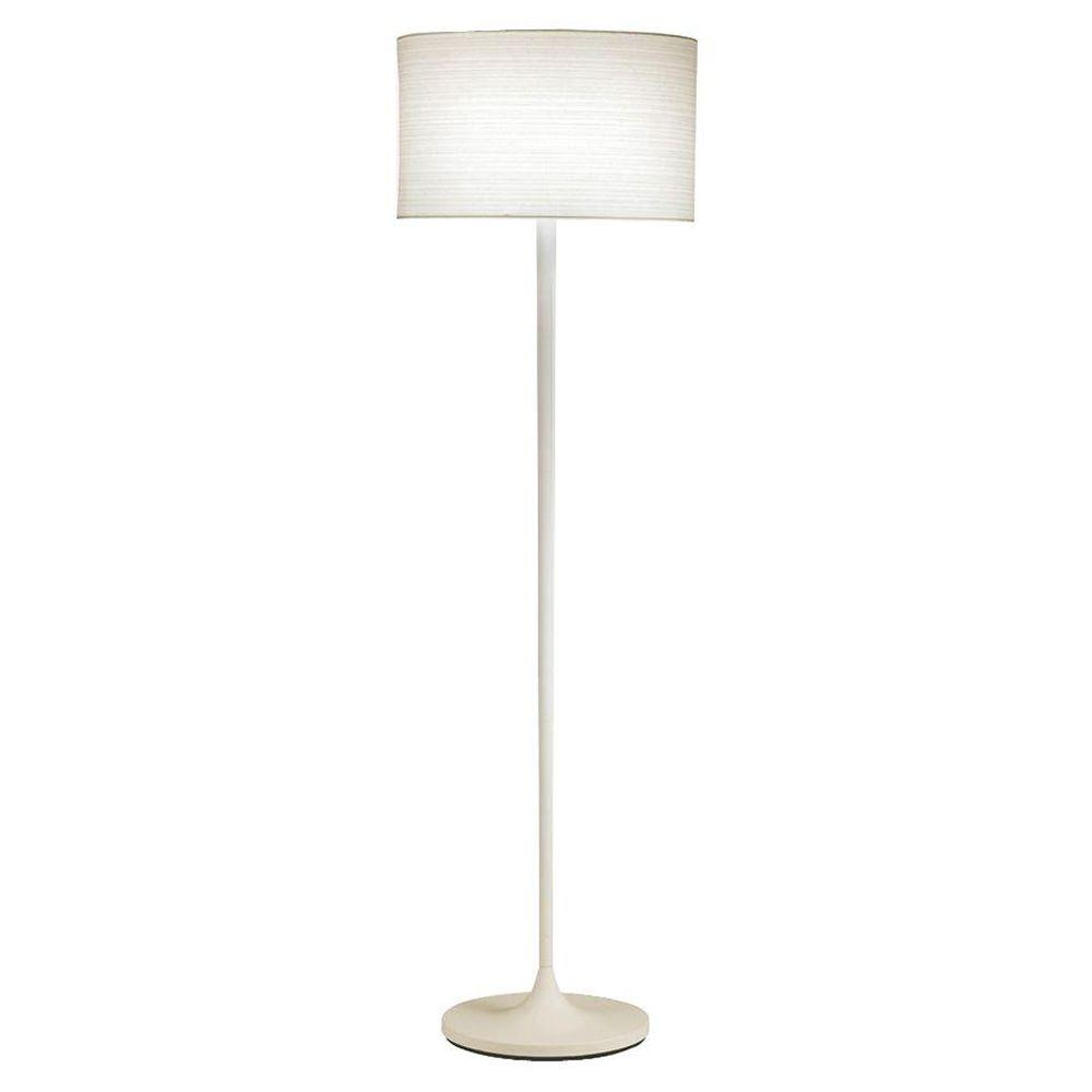Adesso Oslo 60 In White Floor Lamp 6237 02 The Home Depot