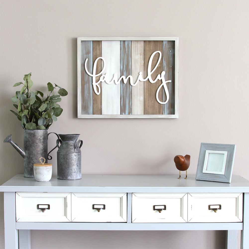 """Stratton Home Decor Rustic """"family"""" Wood Decorative Sign ... on Home Wall Decor Signs id=95597"""