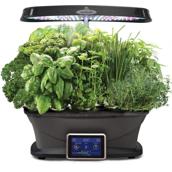 window indoor garden pods Miracle-Gro AeroGarden Bounty with Gourmet Herb Seed Pod