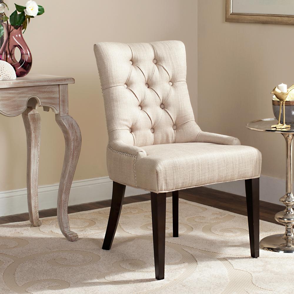 safavieh amanda antique gold linen blend accent chair mcr4515d the home depot