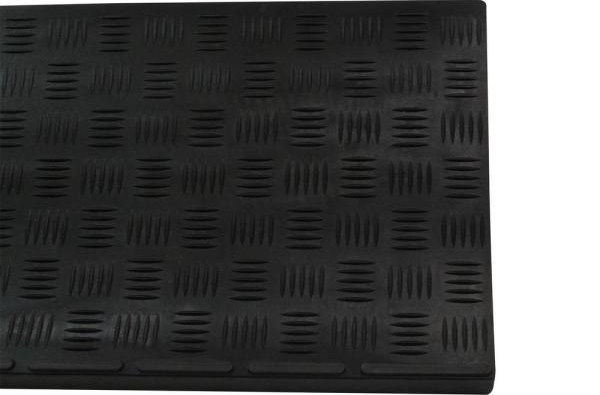 Envelor Black 30 In X 10 In Rubber Outdoor Indoor Non Slip Stair | Outdoor Rubber Stair Treads Home Depot | Riser | Coin Grip | Rubber Cal | Stair Mats | Recycled Rubber