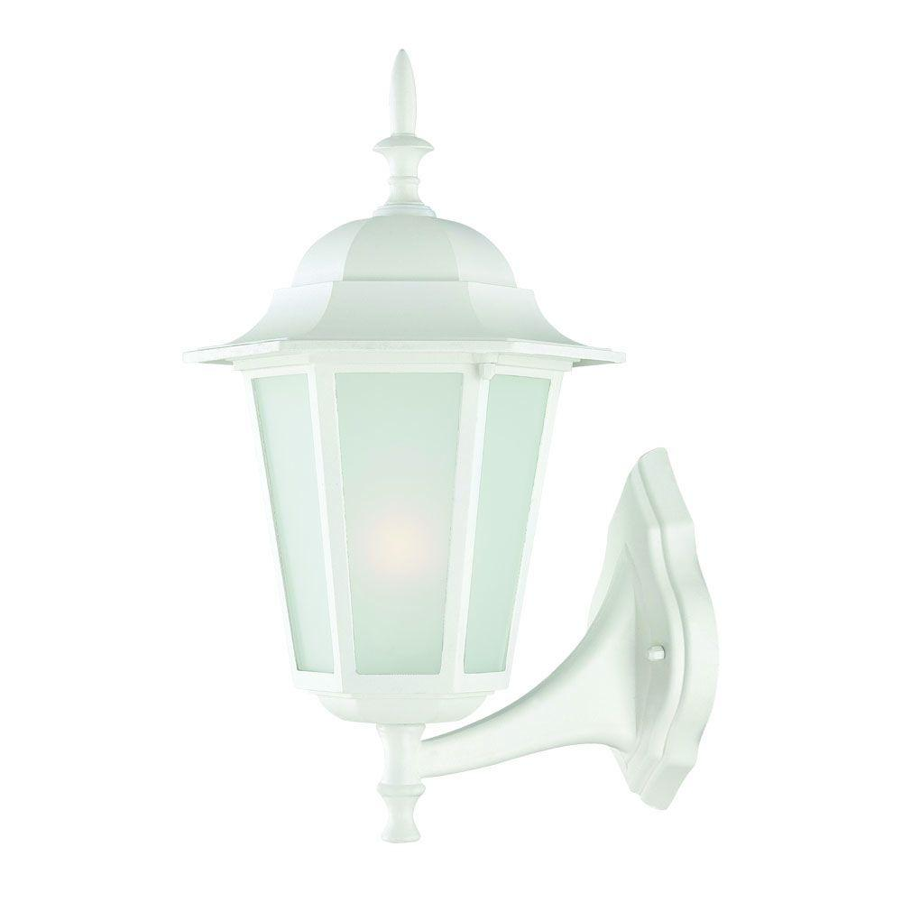 Acclaim Lighting Camelot Collection 1-Light Textured White ... on Outdoor Lighting Fixtures Wall Mounted id=53771