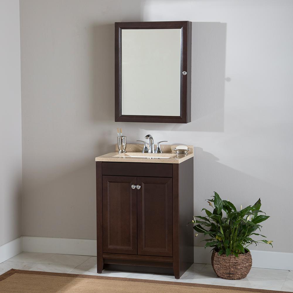 glacier bay dark brown bathroom