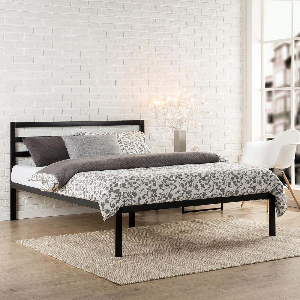 Zinus Modern Studio Black King Platform Bed HD ASMPH 15K   The Home     Zinus Modern Studio Black King Platform Bed