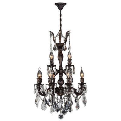 Versailles 12 Light Flemish Brass Crystal Chandelier