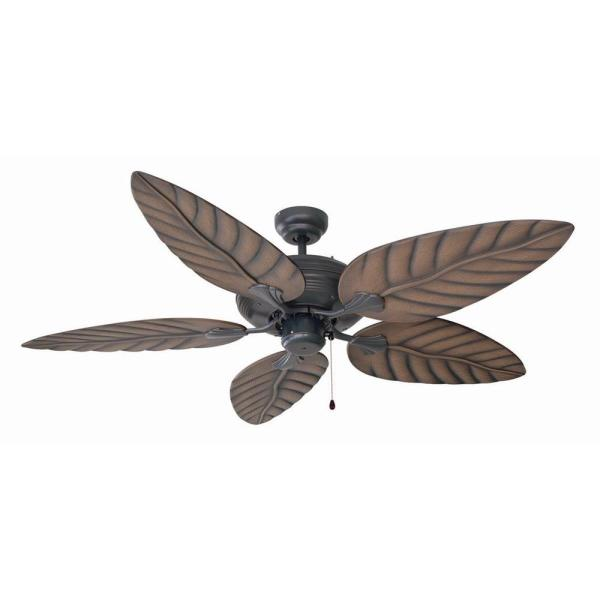Design House Martinique 52 in  Indoor Outdoor Oil Rubbed Bronze     Indoor Outdoor Oil Rubbed Bronze Ceiling Fan with No