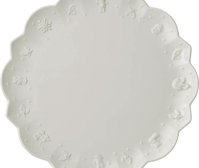 Toys Delight Royal Classic   Inch White Dinner Plate Christmas Dinnerware