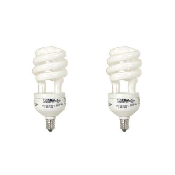 Feit Electric 60 Watt Equivalent Soft White A19 Spiral Candelabra     Feit Electric 60 Watt Equivalent Soft White A19 Spiral Candelabra CFL Light  Bulb  2