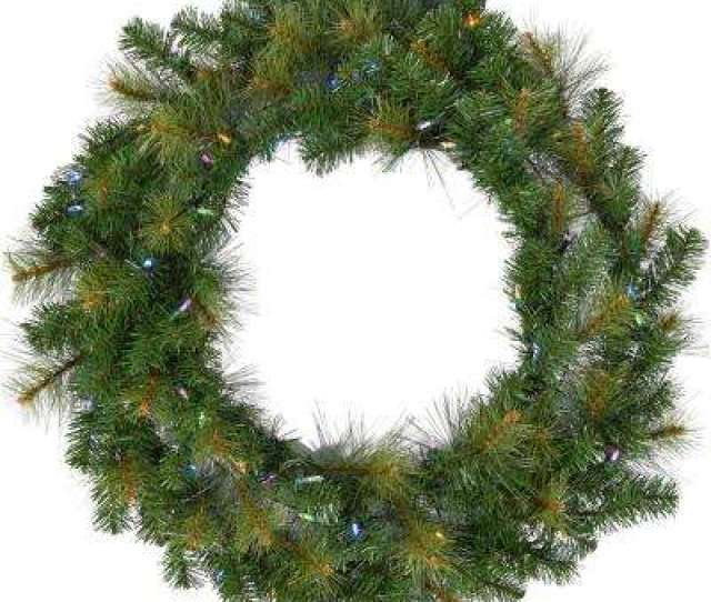 Southern Peace Artificial Holiday Wreath With Multi Colored Battery Operated Led