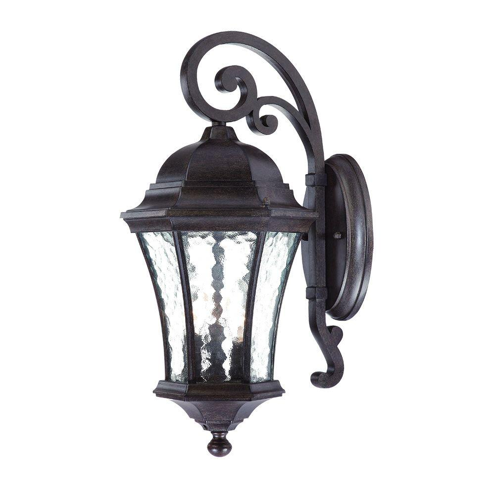 Acclaim Lighting Waverly Collection 3-Light Black Coral ... on Outdoor Lighting Fixtures Wall Mounted id=81294