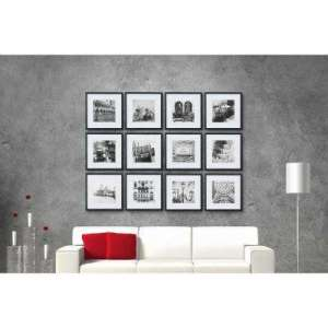 12 X 12   Wall Frames   Wall Decor   The Home Depot Black Collage Picture Frame Set
