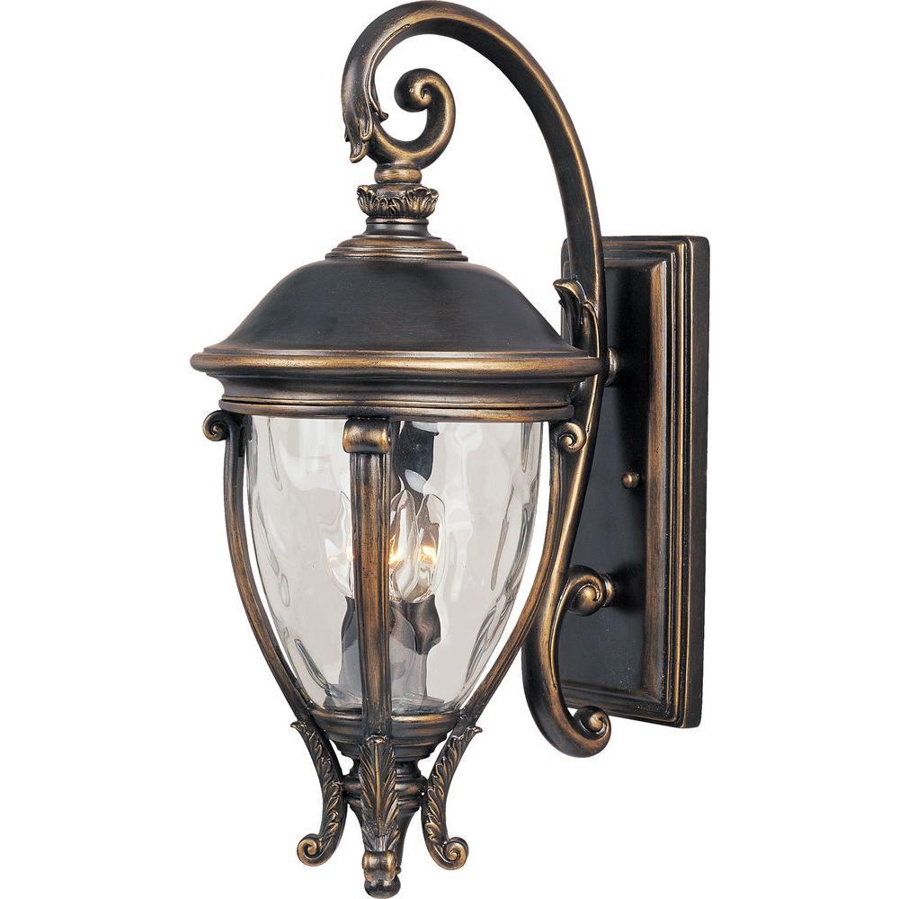 Maxim Lighting Camden Vivex 3-Light Golden Bronze Outdoor ... on Sconce Outdoor Lighting id=23152