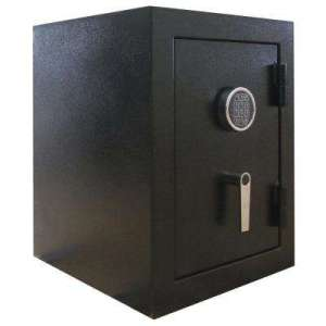 Wall   Floor Safes   Safes   The Home Depot 3 32 cu  ft  Steel Jewelry Wall Safe with Electronic Lock Black