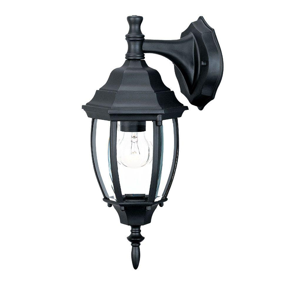 Acclaim Lighting Wexford Collection 1-Light Matte Black ... on Outdoor Lighting Fixtures Wall Mounted id=74655