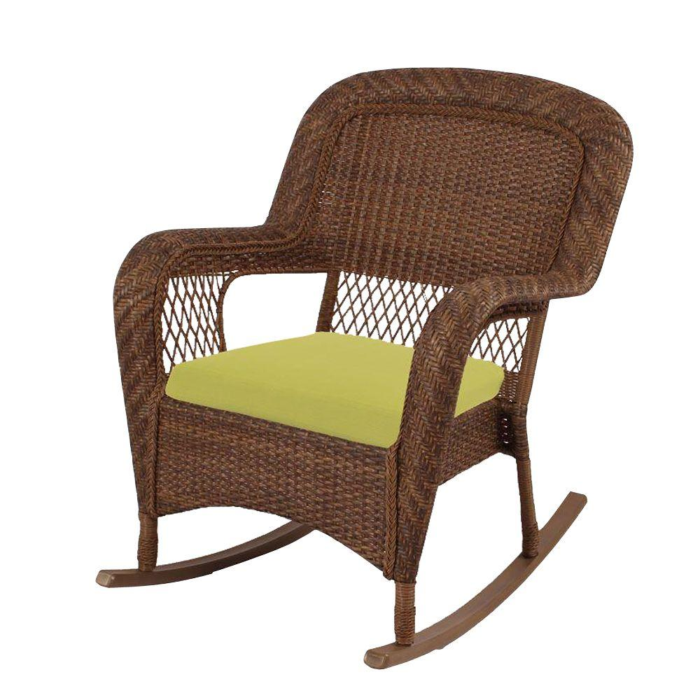 Martha Stewart Living Charlottetown Brown All-Weather ... on Martha Stewart Wicker Patio Set id=96140