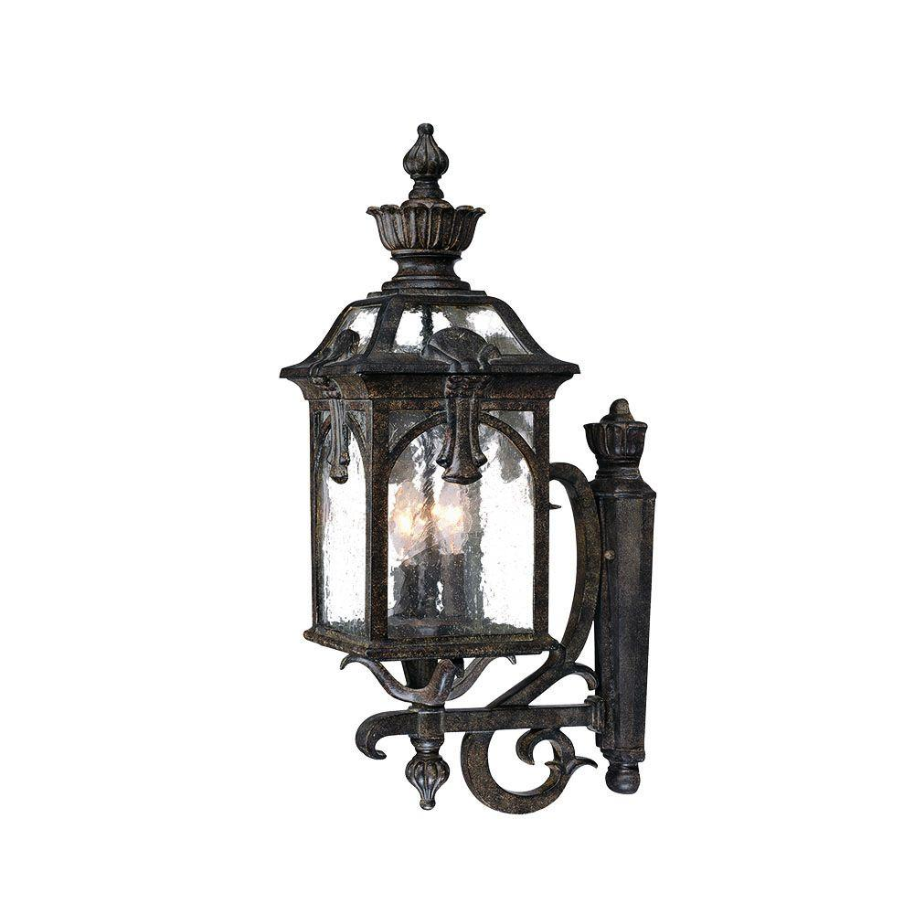 Acclaim Lighting Belmont Collection 3-Light Black Coral ... on Outdoor Lighting Fixtures Wall Mounted id=12299