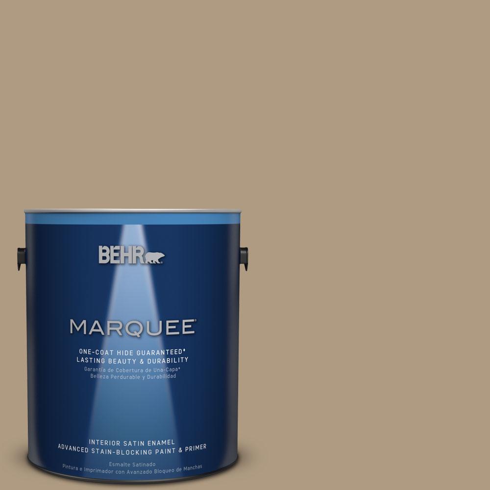⑤1 gal. #MQ2-24 Golden Olive One-Coat Hide Satin Enamel Interior ...
