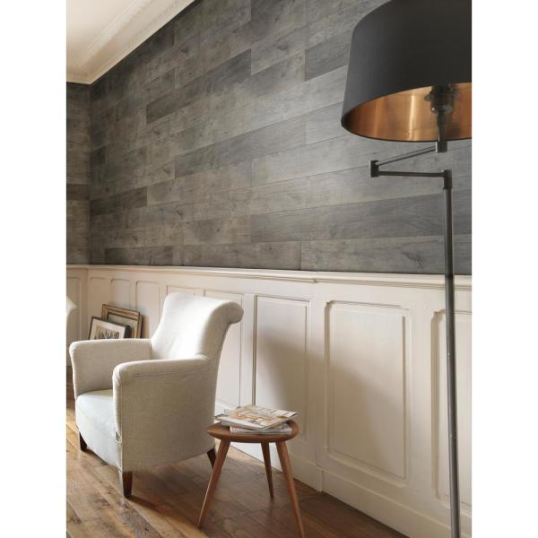 Grosfillex Element Wood 1 4 In X 6 In X 48 In Grey Resin Decorative Wall Panel 18 Pack Usc58441 The Home Depot