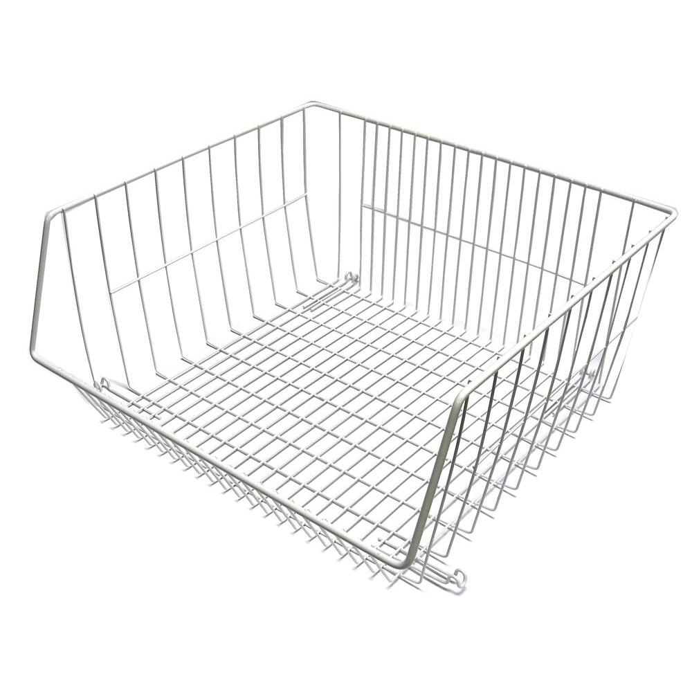 Closetmaid 16 1 2 in x 14 in stack or hang wire storage basket rh homedepot