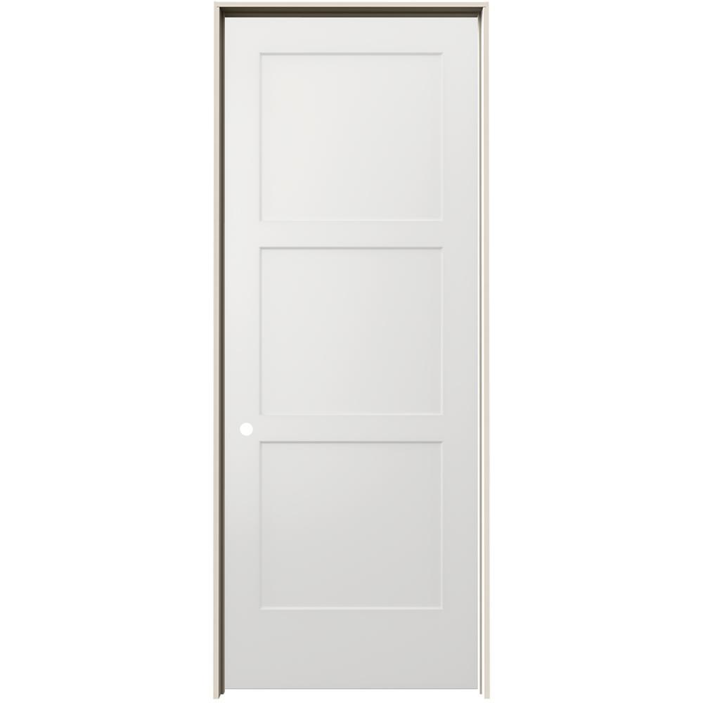 jeld wen 36 in x 96 in birkdale white paint right 36 In X 96 In Composite White Interior Bi Fold Door id=22794