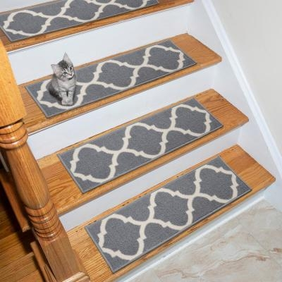 Grays Stair Tread Covers Rugs The Home Depot | Grey Carpet Treads For Stairs | Wool Carpet | Indoor Outdoor | Skid Resistant | Custom Stair | Rugs