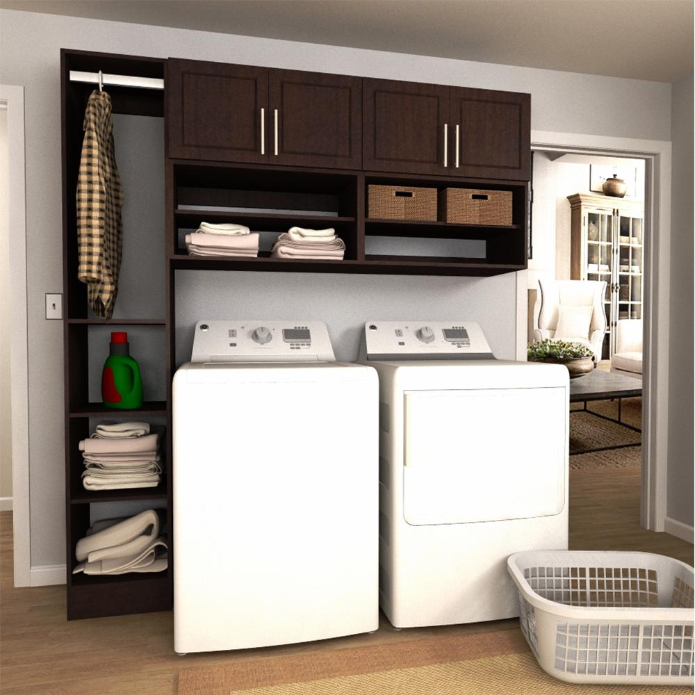 Modifi Madison 75 in. W Mocha (Brown) Open Shelves Laundry ... on Laundry Cabinets  id=55226