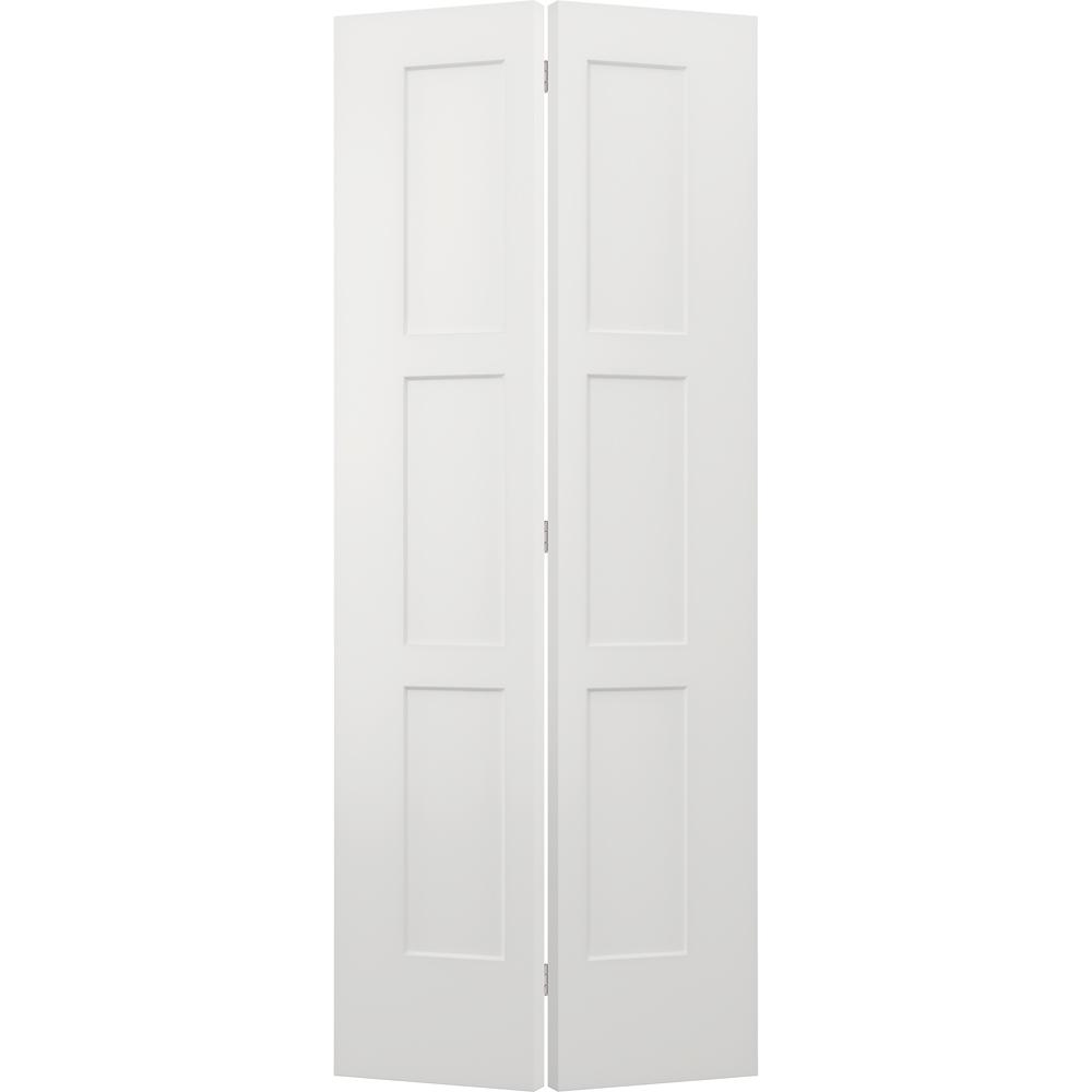 jeld wen 36 in x 96 in birkdale white paint smooth 36 In X 96 In Composite White Interior Bi Fold Door id=45242