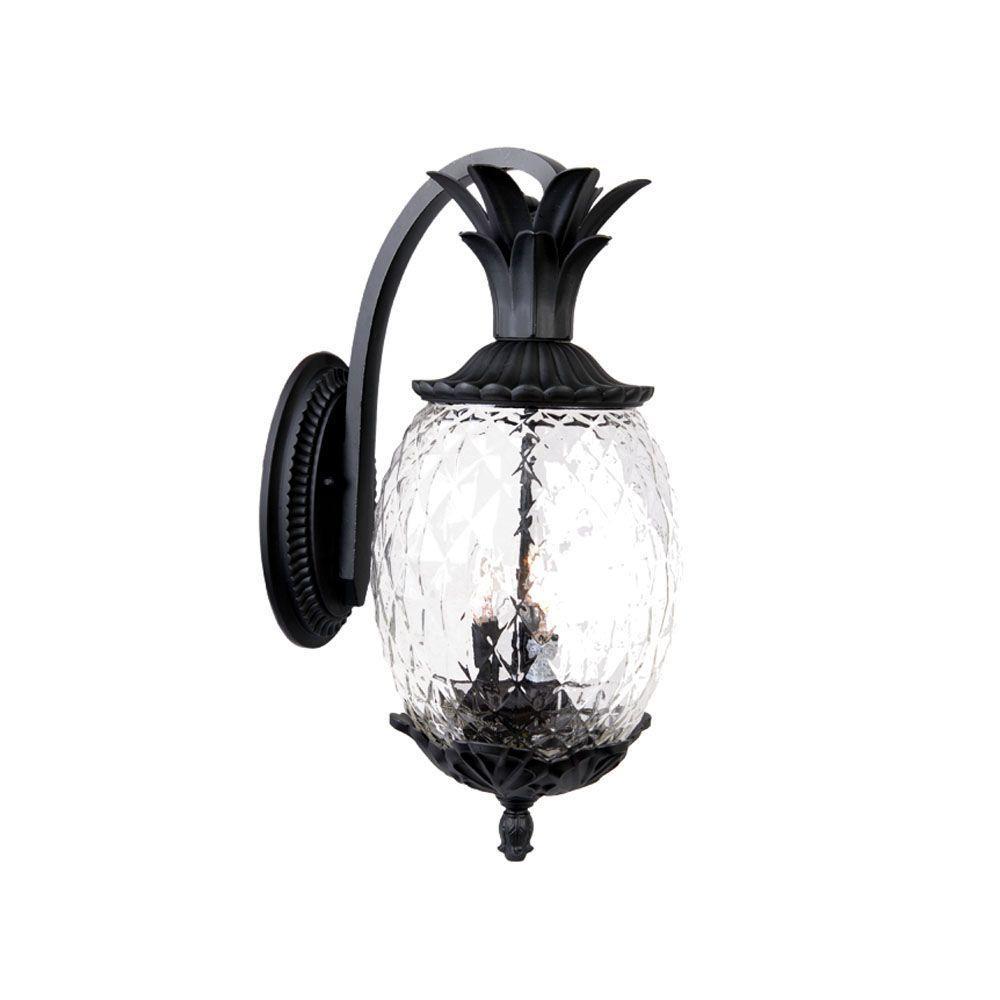 Acclaim Lighting Lanai Collection 3-Light Matte Black ... on Outdoor Lighting Fixtures Wall Mounted id=12984