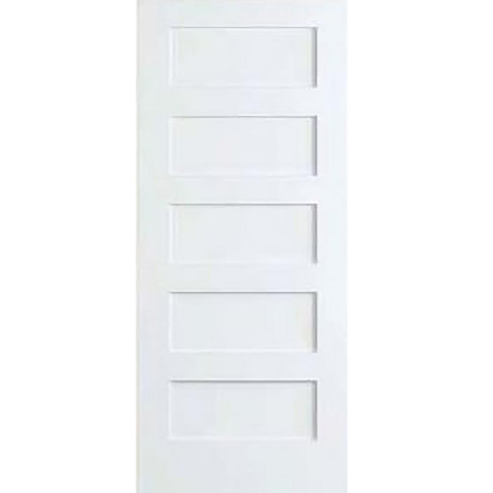 bay 32 in x 80 in white 5 panel shaker solid on Bay 32 In X 80 In 32 In Clear 6 Panel Solid id=66718