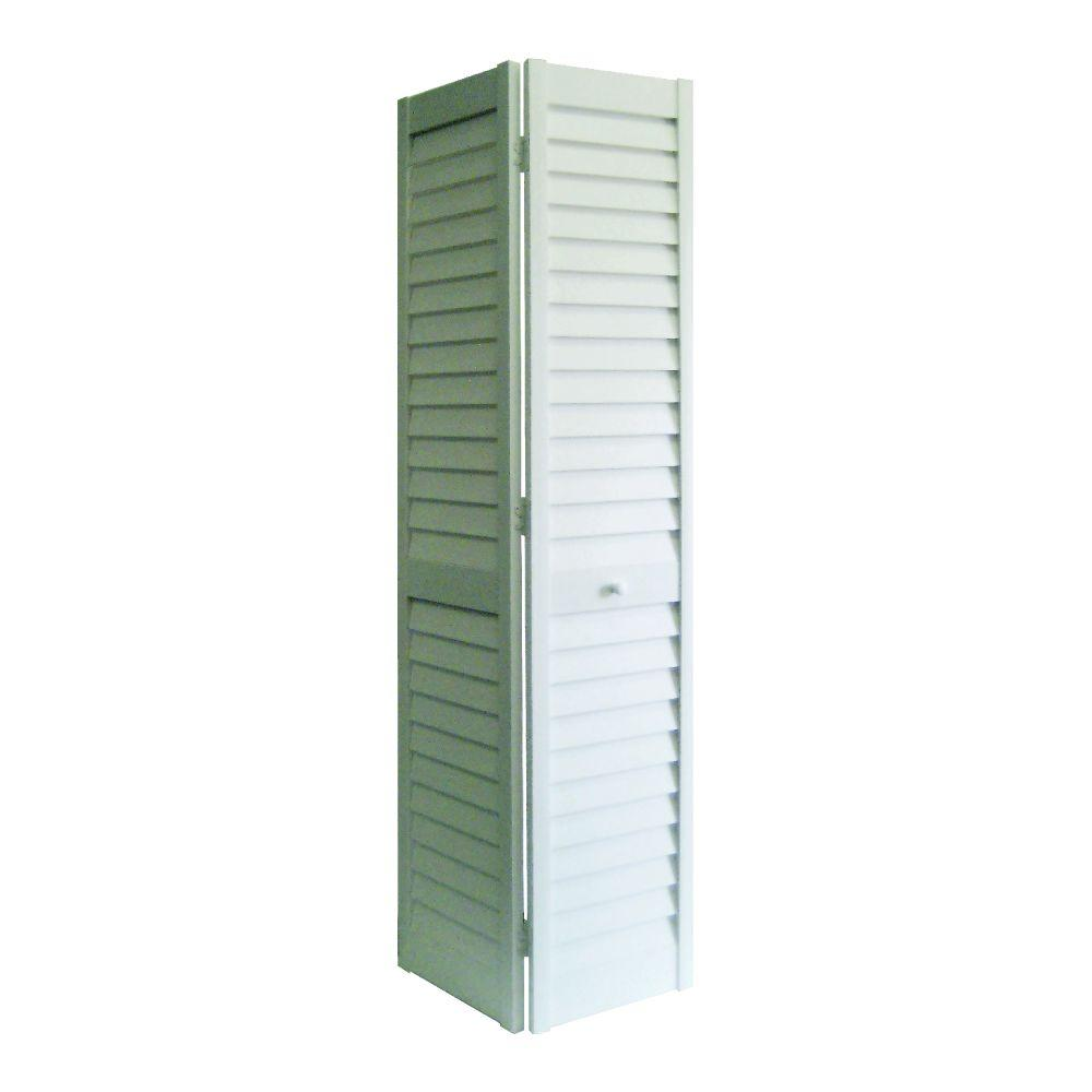 home fashion technologies 30 in x 80 in 3 in louver Home Fashion Technologies 30 In X 80 In 6 Panel White id=66928