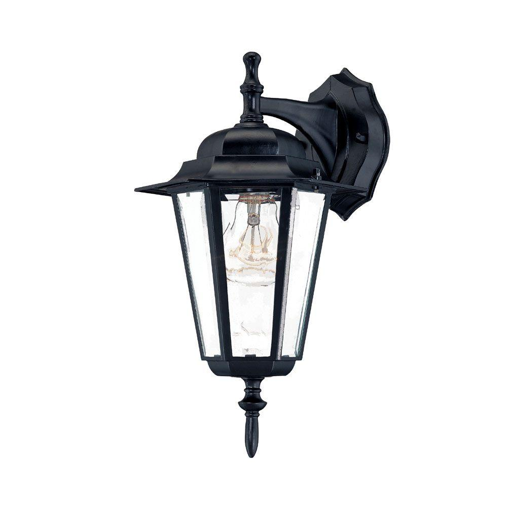 Acclaim Lighting Camelot Collection 1-Light Matte Black ... on Outdoor Lighting Fixtures Wall Mounted id=55472